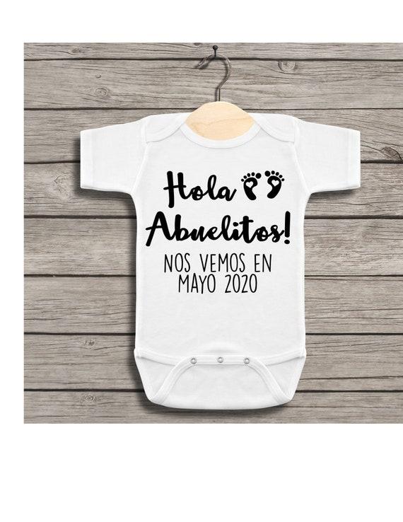 Spanish Onesie Hola Abuela e Abuelo Baby Onesie