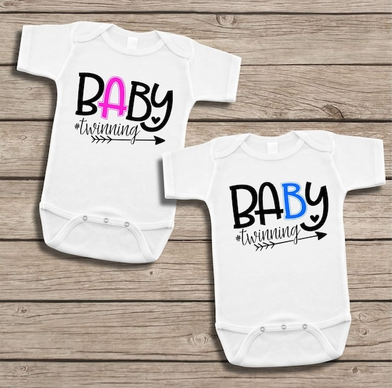 Bodysuits Gift for Twin Boys Includes 2 Bodysuits 3-6 Month Keep Calm