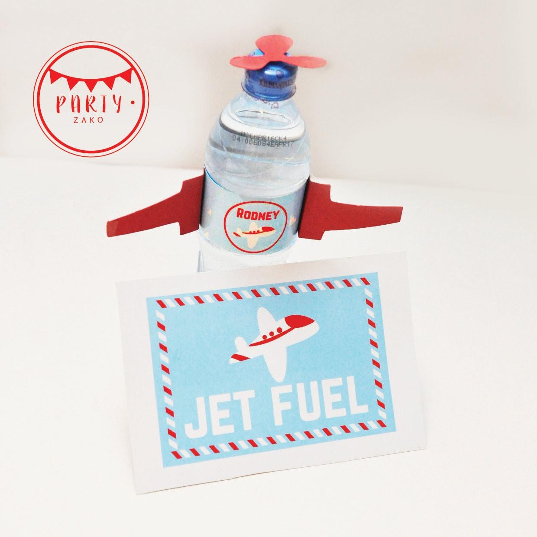 Airplane Water Label Jet Fuel Plane Water Sticker Pilot