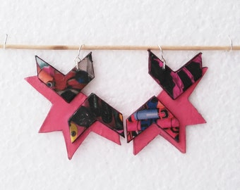 FREE SHIPPING. Pink Earrings, Dangle Earrings, Handmade Earrings, Handmade Jewelry, Earrings, Jewelry, Pink