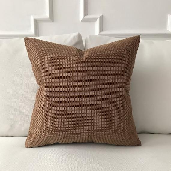 Earth Tone Throw Pillows.Earth Tone Textured Throw Pillow Cover 20 X20