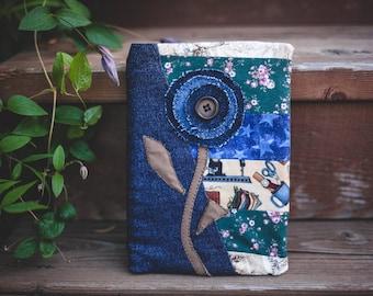 Patchwork Denim and Floral Scketchbook