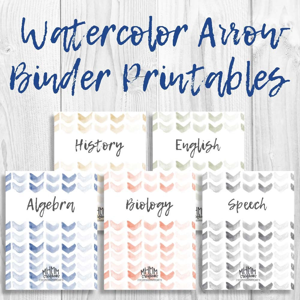 Set Of 5 Printable Binder Covers/Inserts W/ Spines Free