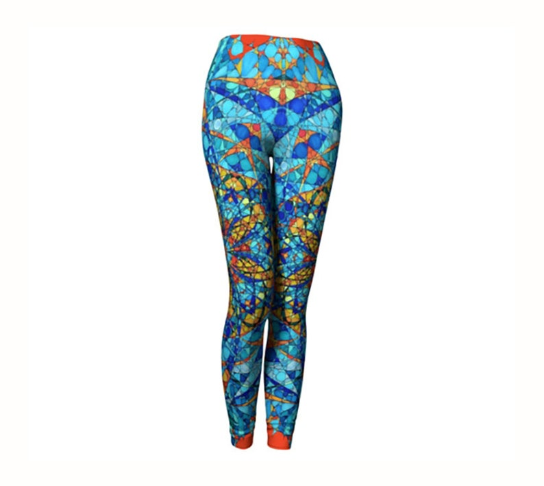 Workout Leggings Yoga Pants Womens Yoga Leggings Colorful Leggings Yoga Leggings Blue Yoga Leggings Yoga Clothing Leggings Women