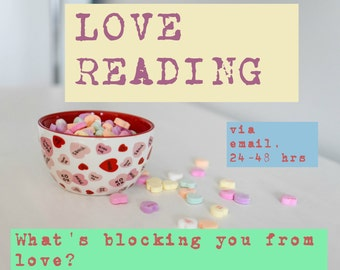 Love reading-- intuitive guidance to help you embrace love, via email