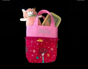 * Personalized * Child's bag * little princess * Kindergarten bag Kita bag