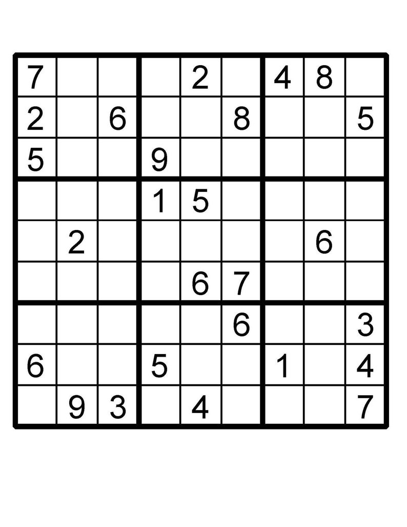 picture about Multi Sudoku Printable named Sudoku Puzzle Sudoku Immediate Down load Printable Puzzle