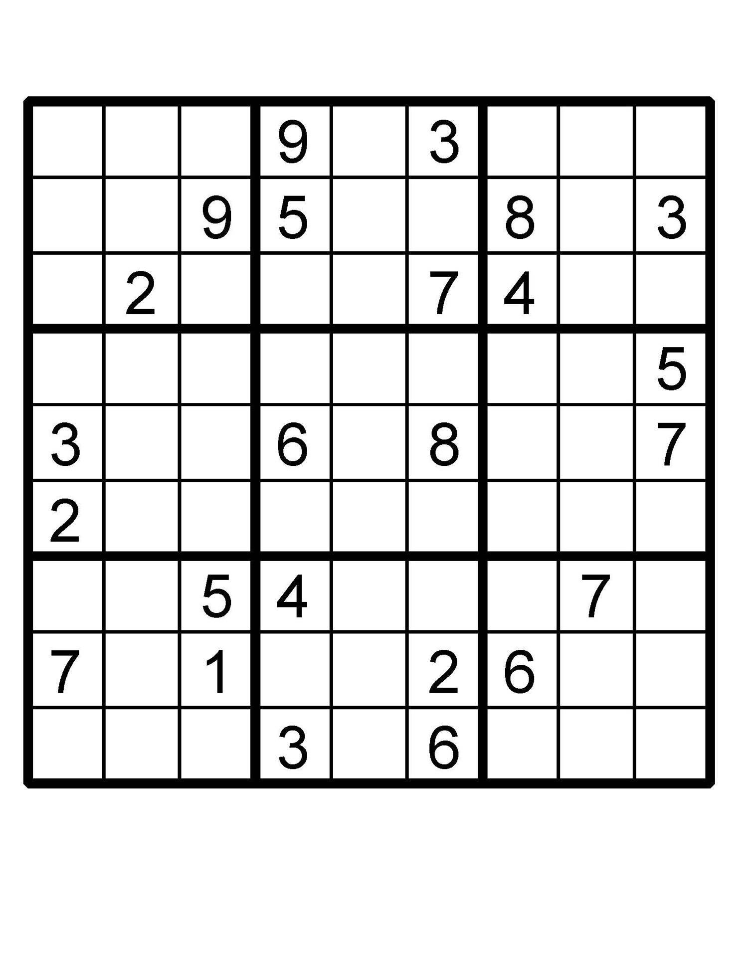 photograph regarding Multi Sudoku Printable named Sudoku Printable Puzzle
