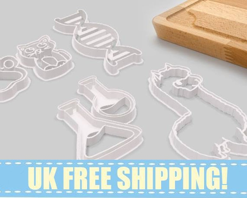 Fondant  Cookie Cutter  Baking  Gift  Birthday  Party Favor  hospital  Science  Geek Gift Ambulance
