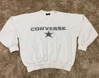 Vintage Converse Spellout Big Logo Pullover Sweatshirt