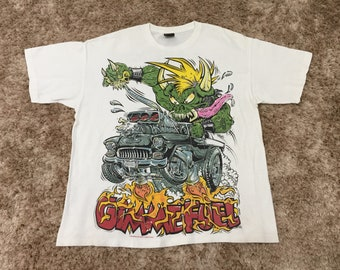 Vintage 90s Metallica Very Rare and Hard to Find North American Tour 1998 by Lil' Daddy Roth Band T-Shirt