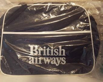 04ef39f573 Vintage British Airways Blue Shoulder Bag