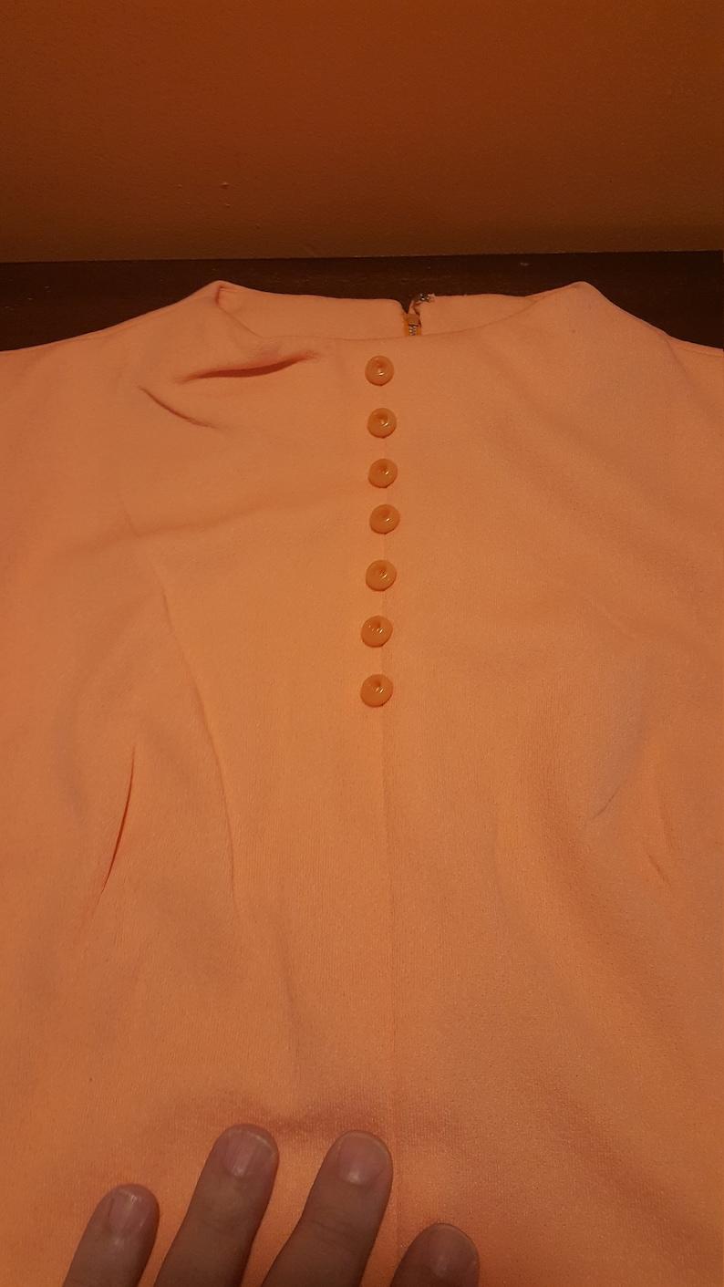 Peach color Vintage Handmade Shift Dress polyester  60/'s