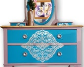 Gorgeous antique painted dressing table - Please see full description for shipping fees