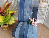 Funky Denim Occasional Chair - Please see full listing for shipping fees