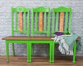 Professionally Upcycled Three Chair Bench