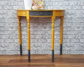 Professionally Upcycled Demi Lune Side Table