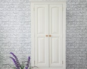 SOLD! COMMISSIONS WELCOME. Professionally painted pine wardrobe