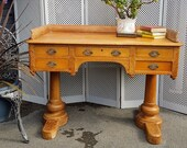 Antique Pine Writing Desk - please see full description for shipping fees