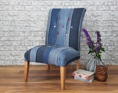 Professionally Upholstered Funky Denim Occasional Chair