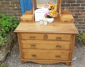 Gorgeous Antique Pine Dressing Table - Please see full description for shipping fees