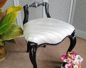 "Pretty ""chool"" (chair/stool) - Please see full listing for shipping fee"