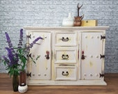 Professionally Hand Painted Rustic Sideboard