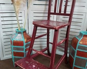 Sweet Distressed High Chair - Please see full description for shipping fees