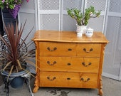 German Antique Pine Chest of Drawers - please see full description for shipping fees