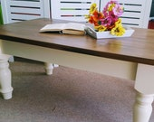 Beautiful painted solid pine coffee table - Please see full description for shipping fees