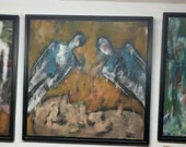 Muriel Ferstenberg set of 3 Original paintings - Please see full description for shipping fees