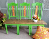 Funky three chair bench - Please see full description for shipping fees
