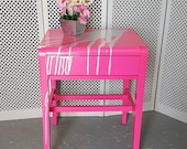 Funky Pink Side Table - please see description for shipping fees