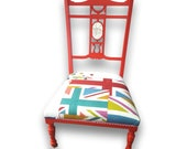 Gorgeous UK Themed Occasional Chair - Please see full description for shipping fees.