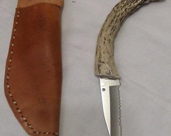 Antler handle knife.