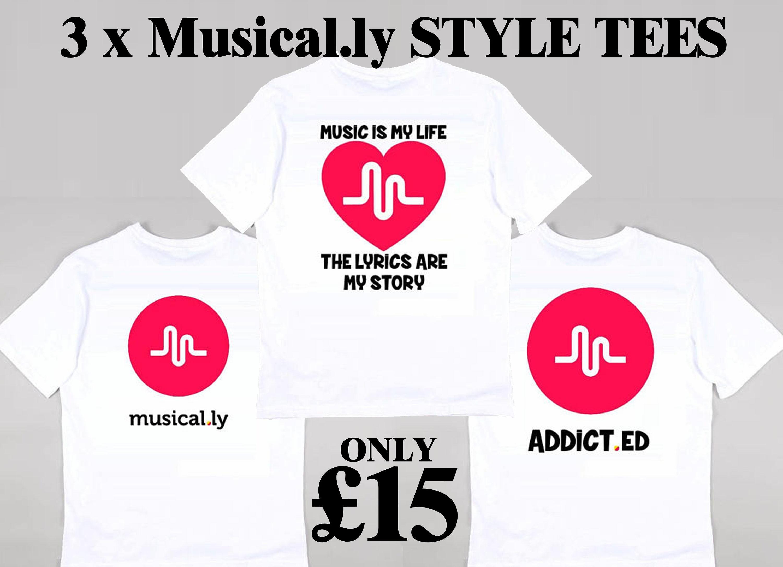 3 X Musical.ly Grafik design Kinder Kids T Shirt inoffizielle | Etsy