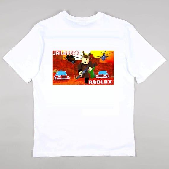 Roblox Jailbreak Para Ninos Los Ninos Camiseta Top Gamer Etsy
