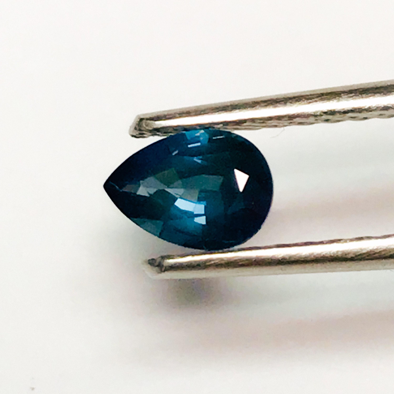 En Forme De Poire Bleu Saphir Saphir Bleu Bleu Bleu Naturel