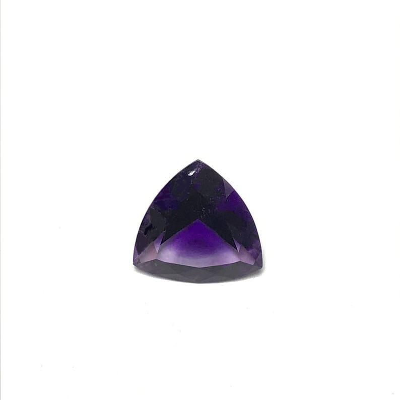Amethyst 3.16 Cts 1 Pcs Trillion Amethyst Loose Amethyst Natural Amethyst Trillion Faceted Loose Gemstone Trillion 11 MM Lot Amethyst