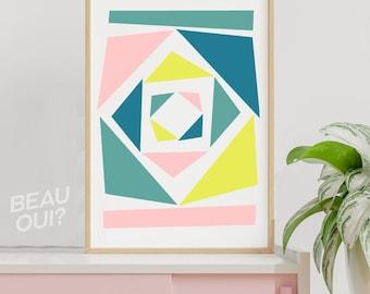 """Geometric wall art print """"Bizarre Triangle"""""""