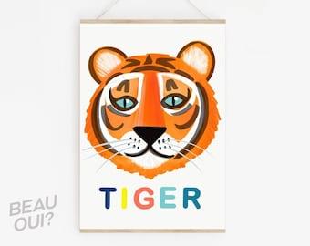 Tiger Face wall art print