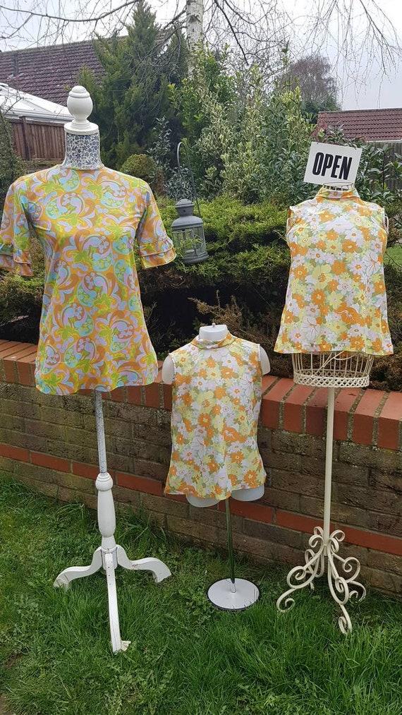 1960s summer vintage MOD dresses/ladies and girls