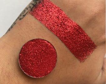 "Pressed Glitter, Cosmetic Glitter, Glitter Eyeshadow -  ""Ruby Red"""