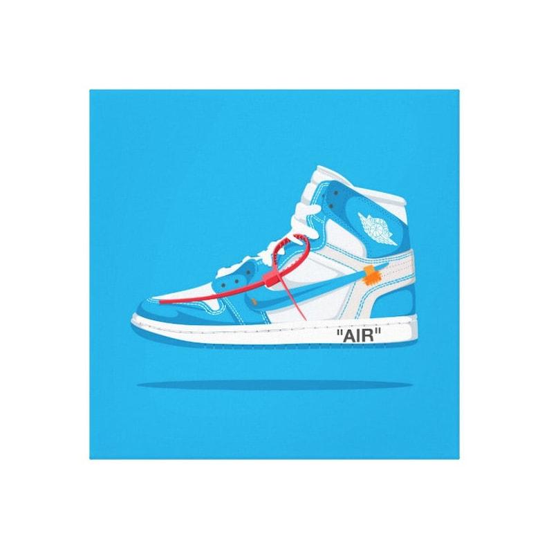 a451d56c7f7f Nike Air Jordan 1 Off White canvas   off-white   Trainer