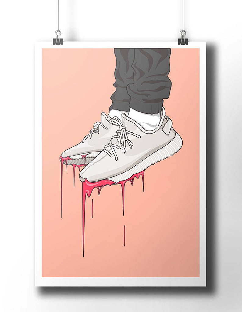 quite nice 13712 18ece Yeezy Boost 350 sneakers poster   wall art   wall decor   Etsy