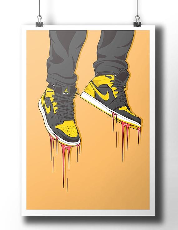 Nike Air Jordan sneaker poster / wall art / wall decor /