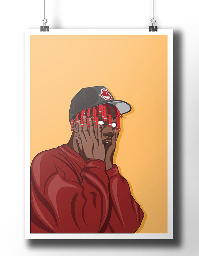 Lil Yachty poster / wall art / wall decor / rap poster / hip hop / rap  artist / dope art / minimalist music poster / rapper / artwork