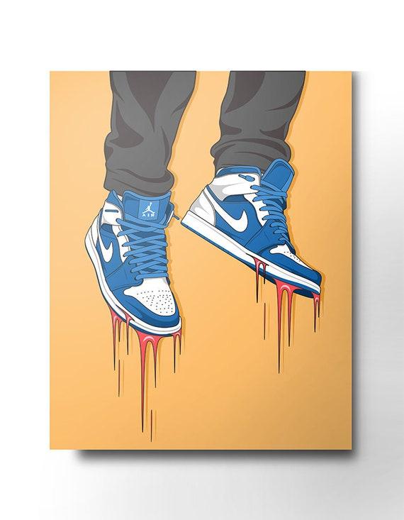 Nike Air Jordan sneaker canvas / wall art / nike trainer /