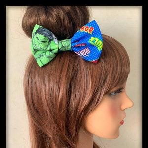 Superman Hair Bow Tie Band Headband Bandana Hairband Super Hero Logo Costume
