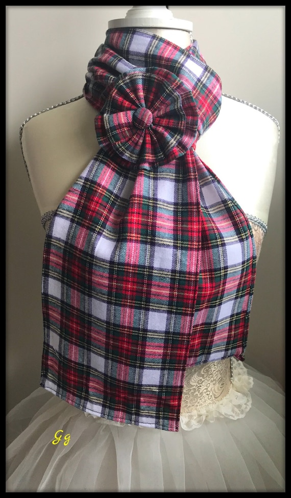 Hunting Stewart Hair Bow Tie Headband Tartan Fabric Scottish Burns Night Wedding